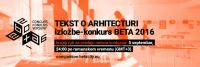 ARCHITECTURAL TEXT BETA 2016 competition